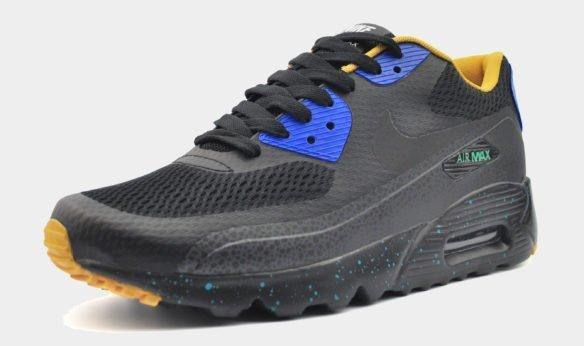 Nike Air Max 90 Hyperfuse черные с синим
