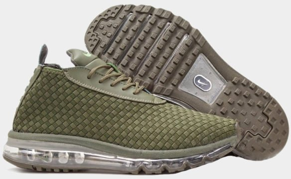 Фото Nike Air Max Woven Boot зеленые - 1