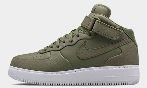 Фото Nike Lab Air Force 1 Mid зеленые - 2